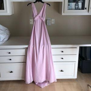 Vera Wang soft pink bridesmaid dress